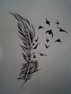 Birds feather... With No Fear along the side of it.... Kind of small on a shoulder blade or rib cage...or even on the side of my hip/