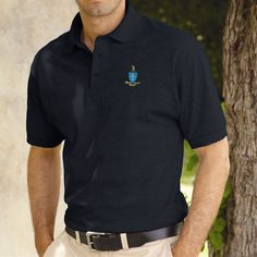 Campus Classics - On Sale! Sigma Chi Midnight Coat of Arms Polo: $26.95