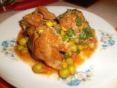 Reteta culinara Ficatei de pui cu mazare din categoria Ficat. Specific India. Cum sa faci Ficatei de pui cu mazare Meat, Chicken, Food, India, Goa India, Meals, Yemek, Buffalo Chicken, Eten