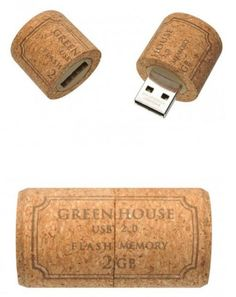 corkboard usb -- customized with our wedding date and loaded with music and pictures