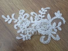 Wedding Lace Hair Comb Lace Hair Comb Lace by MagicBluebellDesigns