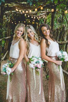 Mila Maxi Skirt in Sequin Bridesmaid Separates | Revelry