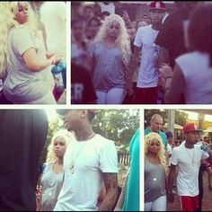 Pregnant-Model-Blac-Chyna-Spotted-At-Six-Flags-With-Rapper-Boyfriend-Tyga