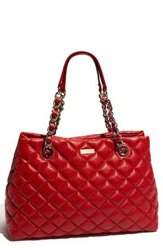 kate spade new york 'gold coast - maryanne' quilted leather shopper | Nordstrom - StyleSays