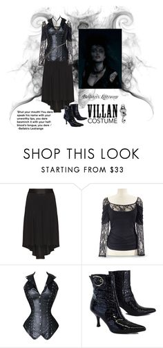 """Bellatrix Lestrange -  Plus Size Costume"" by plussizefashionista ❤ liked on Polyvore featuring Mat, Stuart Weitzman, Bellatrix, plus, plussize, plussizefashion, 60secondstyle and villaincostume"