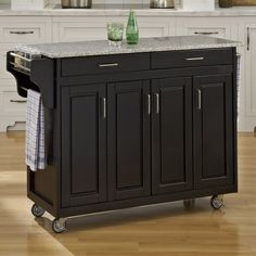This August Grove Regiene Kitchen Island with Granite Top is the perfect kitchen storage solution for you. It has a solid wood construction, which ensures years of reliable use. The base is available in multiple finishes and you can choose the one that complements the color scheme of your home. It features three generous storage cabinets with adjustable shelves within. It also features easy open drawers on metal drawer glides. This kitchen island has an built-in spice rack and stainless…