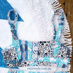 Bikini top sewn from High waist Collective bikini pattern