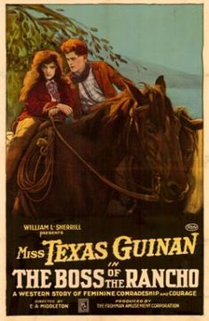 Miss Texas Guinan, THE BOSS OF THE RANCHO, Movie Poster