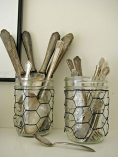 Chicken Wire Crafts | chicken wire craft ideas - Google Search | Mason Jars