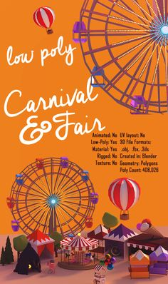 """Check out my @Behance project: """"Low Poly Carnival"""" https://www.behance.net/gallery/50113301/Low-Poly-Carnival"""