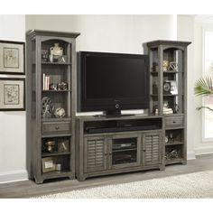 Parker House Austin 3Pc Entertainment Wall in Earl Grey