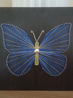Butterfly. String Art. by Bigantic on Etsy