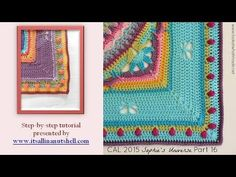 Step-by-step instructions for Sophie's Universe part 1. The 8 rounds shown in this video are also part of Sophie's Garden and Sophie's Mandala. Please not th...