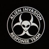 Alien Invasion Response Team Decal (White)