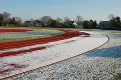 Brentwood School -  Running track in Winter