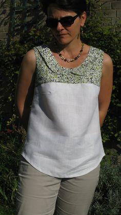 Vestidos Nancy, Stylish Tops For Women, Short Dresses, Summer Dresses, Creation Couture, Couture Tops, Linen Dresses, Lovely Dresses, Refashion