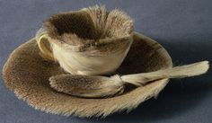 Meret Oppenheim. Object. 1936. Fur-covered cup, saucer, and spoon.