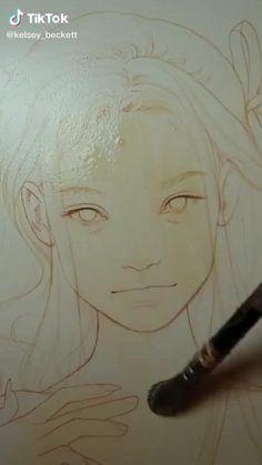 Watercolor Drawing, Watercolor Paintings, Pinturas Disney, Mandala Drawing, Cool Art Drawings, Drawing Base, Drawing Challenge, Art Reference Poses, Illustrations
