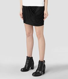 Womens Addie Skirt (Black) | ALLSAINTS.com