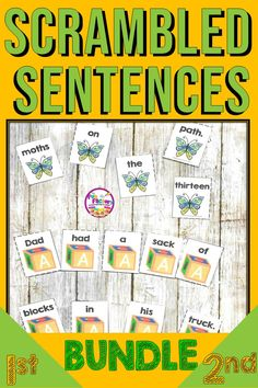 Scrambled Sentences or Build a Sentence Activities and Centers BUNDLE Classroom Organization, Classroom Decor, Classroom Management, The Fun Factory, Phonics Activities, Reading Activities, Elementary Teacher, Elementary Education, Common Core Reading