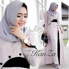 Maxi Kanza Ballotely LD 96 OB 130 fit to L 1 Kancing belakang No pashmina IDR by Islamic Fashion, Muslim Fashion, Modest Fashion, Girl Fashion, Fashion Outfits, Womens Fashion, Hijab Style Dress, Casual Hijab Outfit, Hijab Chic