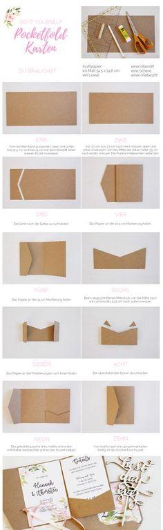 Hochzeit: Pocketfold Karten selber basteln