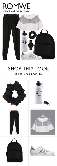 """ROMWE"" by joujou-hajar ❤ liked on Polyvore featuring Miss Selfridge, New Look and adidas Originals"