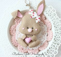 Barbara Handmade...: Filcowy króliczek dla Lemoncraft / Felt bunny for Lemoncraft