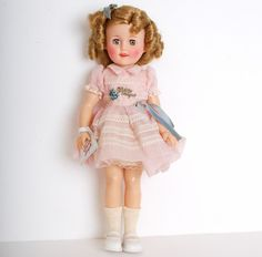 MIB 15 Inch Vinyl Shirley Temple Doll Pink by genalovesvintage, EVERYBODY had a Shirley Temple Doll. LOL!