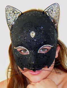 Black Cat Woman from  www.venetianfantasymasks.com