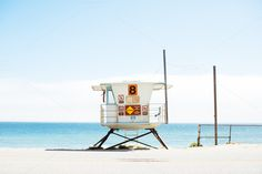 Check out Lifeguard Tower by tamarakate on Creative Market