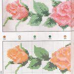 Rosas e Flores para Ponto Cruz Rosas e Flores para Ponto Cruz para utilizar em bordado de toalhas ou toalhas de mesa...