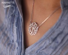 monogrammed necklace!!