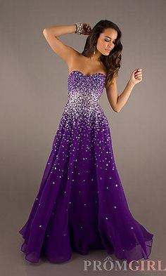 Strapless Beaded Gowns, Mori Lee Long Strapless Dresses- PromGirl ...