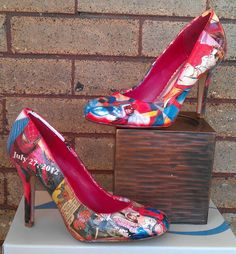Spider Man Wedding Comic book high heels. $85.00, via Etsy.