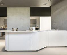 Effeti Kitchens : Sinuosa Collection via Moretti e Rosini UK