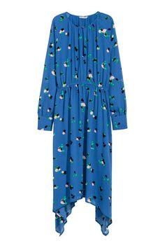 Асимметричное платье - Голубой/Рисунок - Женщины   H&M RU 2