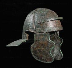 Roman helmet. Bronze, from Judea   Israel Museum(IDAM), Jerusalem, Israel Ancient Rome, Ancient History, Ancient Greek, Soldier Helmet, Roman Helmet, Roman Armor, Gladiator Helmet, Roman Legion, Roman Soldiers
