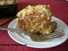 LAZY DAISY OATMEAL CAKE (This looks very similar to a cake my gramma - and then my mom - used to make all the time. Yum!