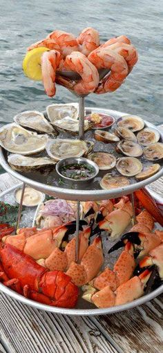 tiered seafood