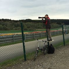 Hobbyist photographer and motor racing fan Carlo Bingen was at a race at the Circuit de Spa-Francorchamps in Belgium yesterday when he cane across this pho