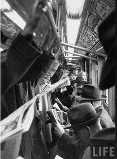Cornell CAPA :: NYC Subway, 1952. I hope people appreciated the work photogs for life were doing. Meaningful and artistic