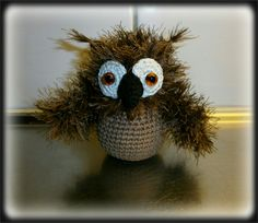 Crochet Owl, Pattern made by me - Virkad Uggla, Eget mönster - Crocheted by Susanna
