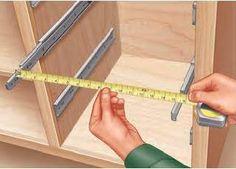 Measuring drawer slide spaces