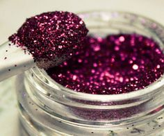 A spoonful of glitter makes the day seem better!