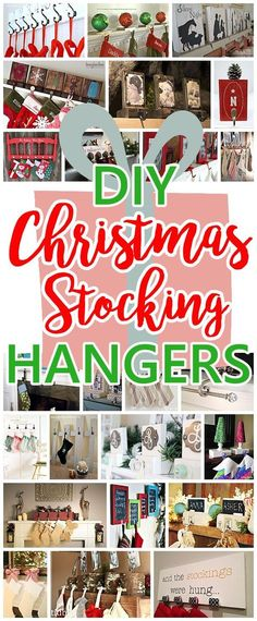 Cheap and Easy Do it Yourself Christmas Stocking Hangers and Clever Tutorials, Ideas and Ways to Display Stockings even without a mantel for the holidays! Dreaming in DIY