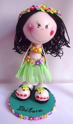 Fofucha havaiana   Feita para troquinha, para minha amiga De…   Maria Aparecida Monteiro   Flickr
