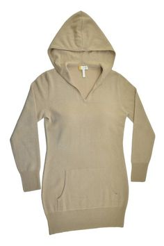 Wheat Silk and Cashmere Long Hooded Sweatshirt | HeartHabits Deliciously Beautiful Things to Wear