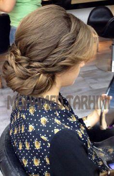 Grecian Updo, Twists Grecian Hairstyles, Up Hairstyles, Chignon Updo, Updos, Bridesmaid Hair, Bridesmaid Ideas, Really Curly Hair, Hair Dos, Bridal Hair