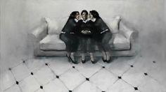 by Greek artist Achilleas Pistonis European Paintings, Installation Art, Sculptures, Batman, Darth Vader, Fine Art, Superhero, Fictional Characters, Postcards